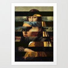 Mona und der Ohrring Art Print