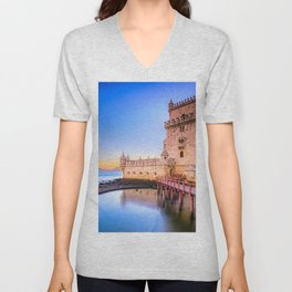 World Popular Beautiful Historic Fortress Europe UHD Unisex V-Neck