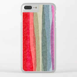 Willow Stripe Clear iPhone Case