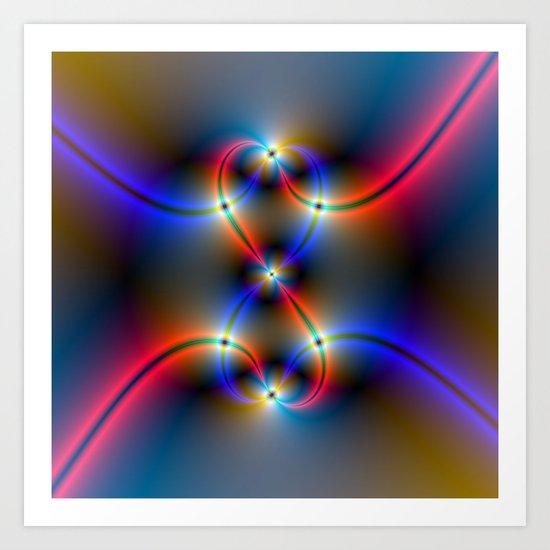 Infinite Neon Art Print