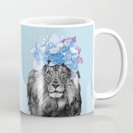 Lion with flowers Coffee Mug