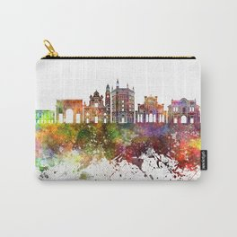 Parma skyline in watercolor background Carry-All Pouch