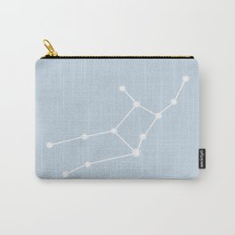 Virgo Zodiac Constellation - Pastel Blue Carry-All Pouch