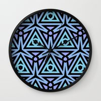 technology Wall Clocks featuring Alien Technology by Lyle Hatch