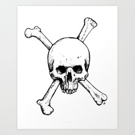 Skull and Crossed Bones Art Print