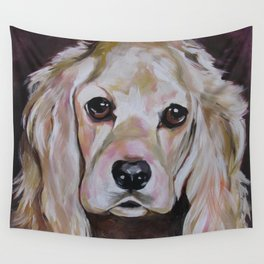 Cocker Spaniel Dog Pet Portrait Wall Tapestry