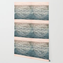 Mandala Flower of Life Sea Wallpaper