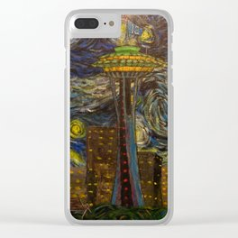 Seattle Starry Night Clear iPhone Case