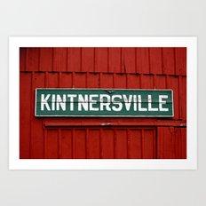 Kintnersville barn Art Print