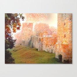 Walls of Visby Canvas Print