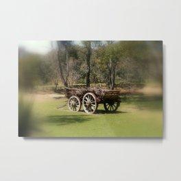 Wagon Wheels Metal Print
