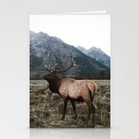 elk Stationery Cards featuring Elk by jmeshe