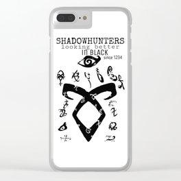 ShadownhuntersRune with Runes Clear iPhone Case