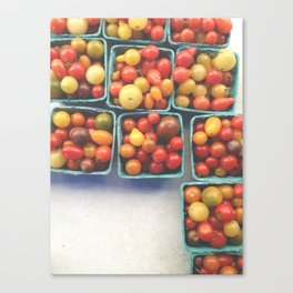 Farmers Market Tomatoes Canvas Print