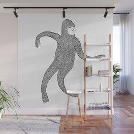 Bigfoot Doing The Wave Wall Mural