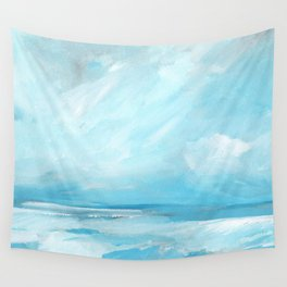 Resurgence - Stormy Ocean Seascape Wall Tapestry