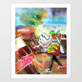 Hi-C Knocked Him Down Art Print