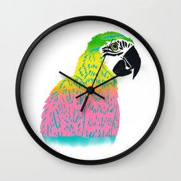 Electrifying Parrot Wall Clock