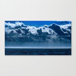 Double Cloud Sky Canvas Print