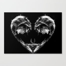 Frond Heart Canvas Print