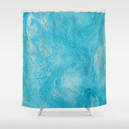 Blue Coaster 1 Shower Curtain