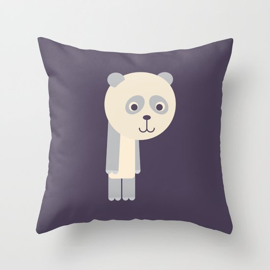 Letter P // Animal Alphabet // Panda Monogram Throw Pillow