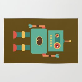 Fun Robot Toy Graphic Rug