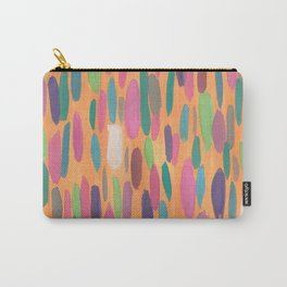 Colorful Dots on Orange Background Abstract Carry-All Pouch