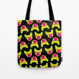 french bulldog - blk pattern Tote Bag