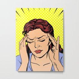 Headache w/ Radial Rays and dots Metal Print