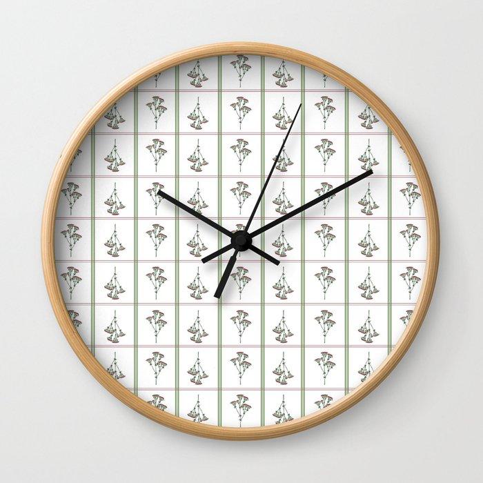 Archillea Flower Pattern Wall Clock