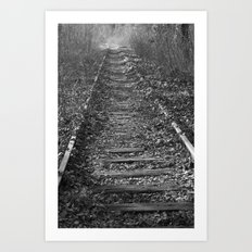 tracks in the forest Art Print