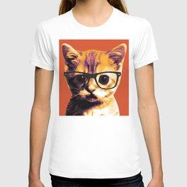 Pop Art Cat Orange T-shirt