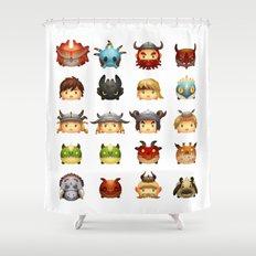 Little Dragons Shower Curtain
