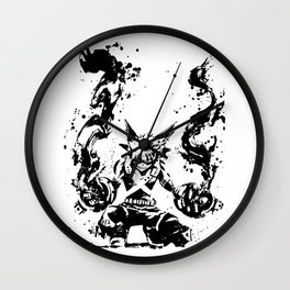Bakugo Katsuki Ink Splatter Wall Clock