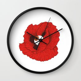BloodPoppy Wall Clock