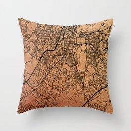 Belfast map Throw Pillow