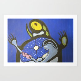 Sky Woman and Turtle Island Art Print