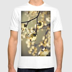 Magical Dogwood MEDIUM White Mens Fitted Tee