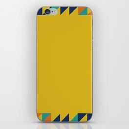 Geometric Square Border Pattern iPhone Skin