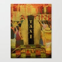 taxi driver Canvas Prints featuring Taxi Driver by David Amblard