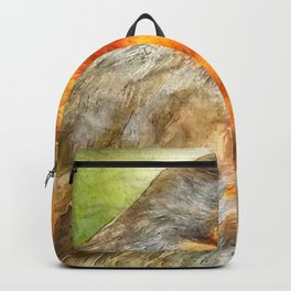 Christmas Robin Winter Watercolor Backpack