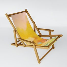 abstract spring sun Sling Chair