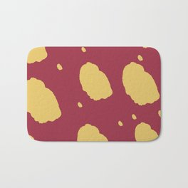 Red And Yellow Playful Pattern Bath Mat