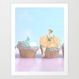 Cupcakes & Pastels Art Print