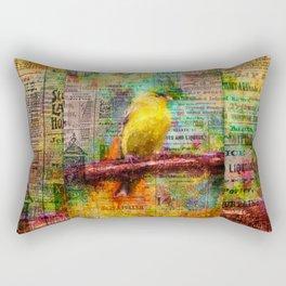 Newsprint Songbird Rectangular Pillow