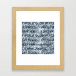 Light Blue Jeans Denim Textures Framed Art Print