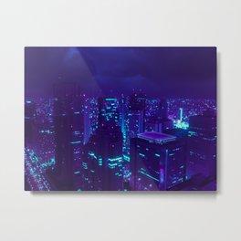 Shinjuku Blues Metal Print