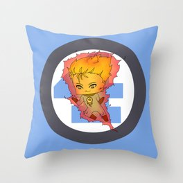Chibi Human Torch Throw Pillow