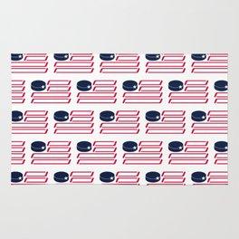 USA Hockey Flag Rug